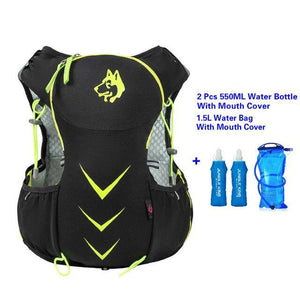 Jungle King 5L Marathon Hydration Vest Pack for 1.5L Water Bag Bikewest.com GreenWaterBag 550ML