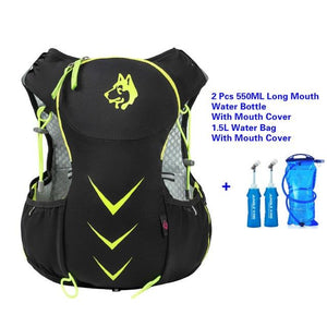 Jungle King 5L Marathon Hydration Vest Pack for 1.5L Water Bag Bikewest.com GreenWaterBagLongMou