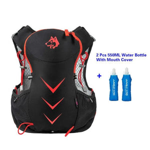 Jungle King 5L Marathon Hydration Vest Pack for 1.5L Water Bag Bikewest.com Red 550ML Bottle