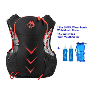 Jungle King 5L Marathon Hydration Vest Pack for 1.5L Water Bag Bikewest.com Red WaterBag 550ML