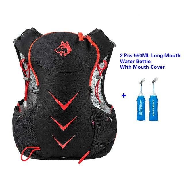 Jungle King 5L Marathon Hydration Vest Pack for 1.5L Water Bag Bikewest.com Red550ML LongBottle