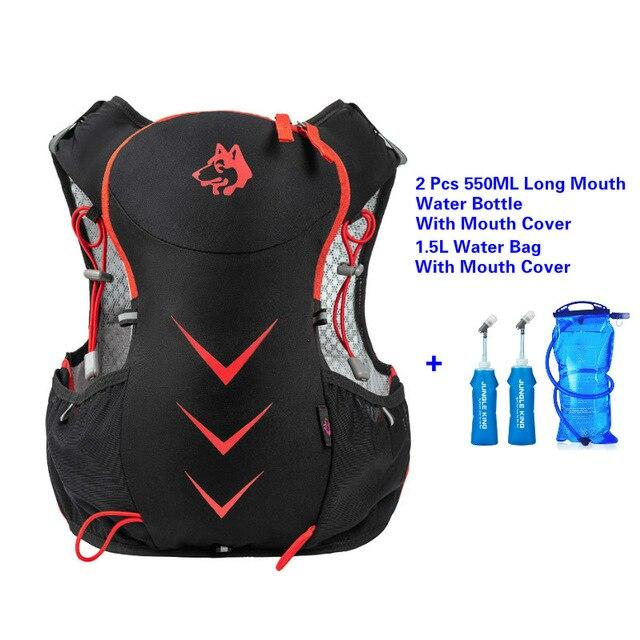 Jungle King 5L Marathon Hydration Vest Pack for 1.5L Water Bag Bikewest.com RedWaterBagLongMouth