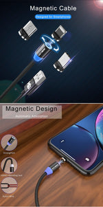 Load image into Gallery viewer, Magnetic USB Cable Fast Charging Type C Bikewest.com