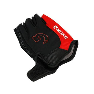 Men Cycling Gloves Bicycle Sports Half Finger Gloves Bikewest.com Red L China