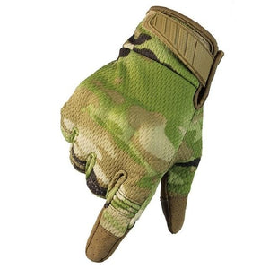 Men Riding Gloves Cycling Bike Full Finger Bikewest.com Camo S