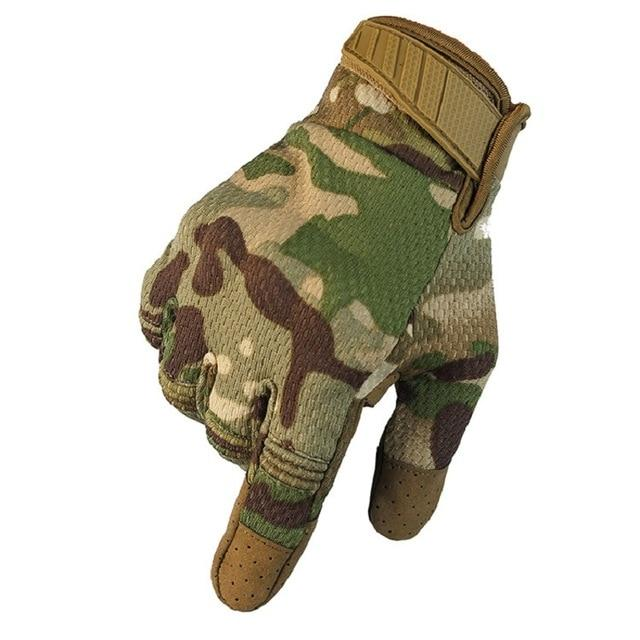 Men Riding Gloves Cycling Bike Full Finger Bikewest.com CP Camo L
