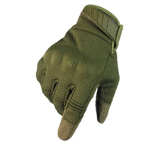 Men Riding Gloves Cycling Bike Full Finger Bikewest.com Green S