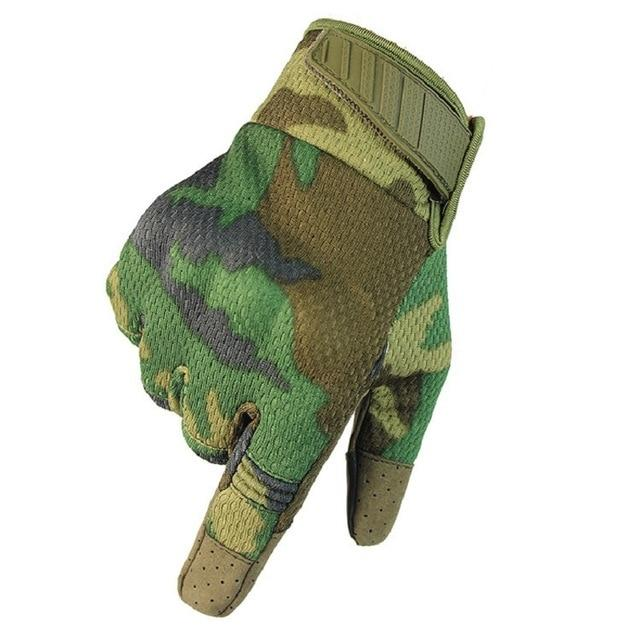 Men Riding Gloves Cycling Bike Full Finger Bikewest.com Jungle Camo S