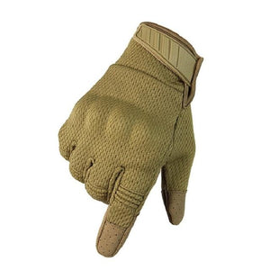 Men Riding Gloves Cycling Bike Full Finger Bikewest.com Khaki L