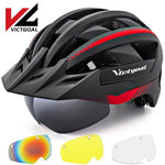 Load image into Gallery viewer, Mountain Road Bike Helmet With Sun Visor Goggles Bikewest.com