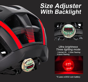 Mountain Road Bike Helmet With Sun Visor Goggles Bikewest.com