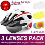 Load image into Gallery viewer, Mountain Road Bike Helmet With Sun Visor Goggles Bikewest.com Normal Model -3PCS 10