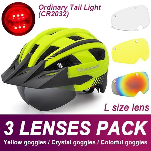 Mountain Road Bike Helmet With Sun Visor Goggles Bikewest.com Normal Model -3PCS 2