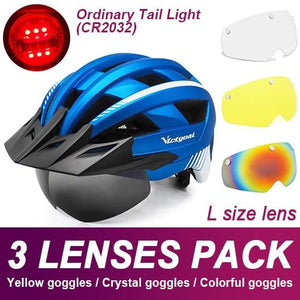 Mountain Road Bike Helmet With Sun Visor Goggles Bikewest.com Normal Model -3PCS 3