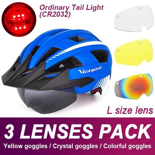 Mountain Road Bike Helmet With Sun Visor Goggles Bikewest.com Normal Model -3PCS 5