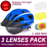 Load image into Gallery viewer, Mountain Road Bike Helmet With Sun Visor Goggles Bikewest.com Normal Model -3PCS 5