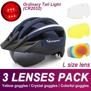 Mountain Road Bike Helmet With Sun Visor Goggles Bikewest.com Normal Model -3PCS 6