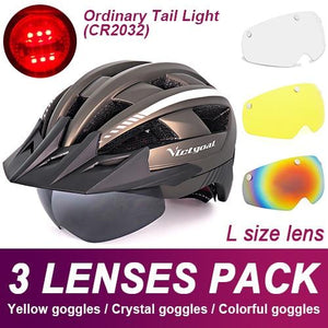 Mountain Road Bike Helmet With Sun Visor Goggles Bikewest.com Normal Model -3PCS 7
