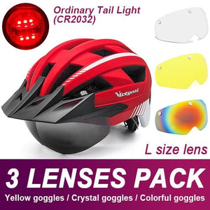 Mountain Road Bike Helmet With Sun Visor Goggles Bikewest.com Normal Model -3PCS 8