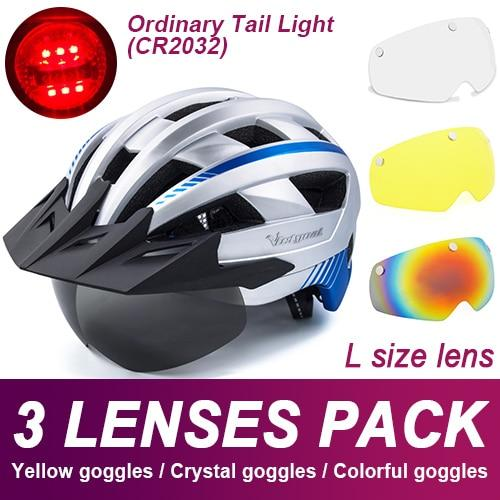 Mountain Road Bike Helmet With Sun Visor Goggles Bikewest.com Normal Model -3PCS 9