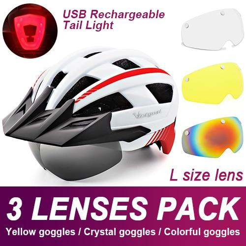 Mountain Road Bike Helmet With Sun Visor Goggles Bikewest.com Upgrade Model -3PCS 10