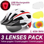 Load image into Gallery viewer, Mountain Road Bike Helmet With Sun Visor Goggles Bikewest.com Upgrade Model -3PCS 10