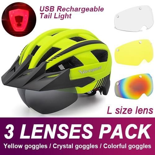 Mountain Road Bike Helmet With Sun Visor Goggles Bikewest.com Upgrade Model -3PCS 2