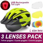 Load image into Gallery viewer, Mountain Road Bike Helmet With Sun Visor Goggles Bikewest.com Upgrade Model -3PCS 2