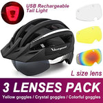 Load image into Gallery viewer, Mountain Road Bike Helmet With Sun Visor Goggles Bikewest.com Upgrade Model -3PCS 4