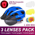 Load image into Gallery viewer, Mountain Road Bike Helmet With Sun Visor Goggles Bikewest.com Upgrade Model -3PCS 5