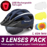 Load image into Gallery viewer, Mountain Road Bike Helmet With Sun Visor Goggles Bikewest.com Upgrade Model -3PCS 6