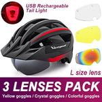 Load image into Gallery viewer, Mountain Road Bike Helmet With Sun Visor Goggles Bikewest.com Upgrade Model -3PCS