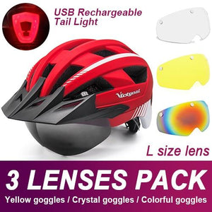 Mountain Road Bike Helmet With Sun Visor Goggles Bikewest.com Upgrade Model -3PCS 8