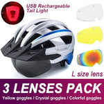 Load image into Gallery viewer, Mountain Road Bike Helmet With Sun Visor Goggles Bikewest.com Upgrade Model -3PCS 9