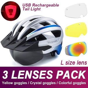 Mountain Road Bike Helmet With Sun Visor Goggles Bikewest.com Upgrade Model -3PCS 9