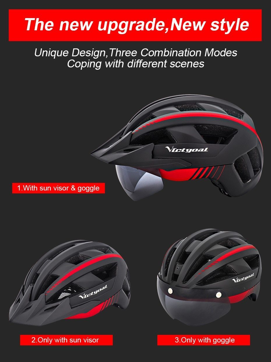 MTB LED Bicycle Helmet USB Rechargeable Taillight Bikewest.com