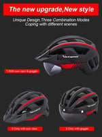Load image into Gallery viewer, MTB LED Bicycle Helmet USB Rechargeable Taillight Bikewest.com