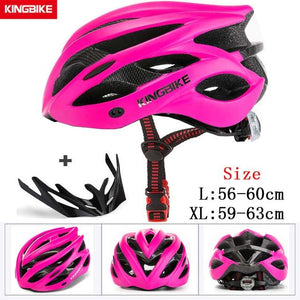 MTB Road Cycling Helmets Ultralight Bikewest.com A-629-rose pink l56-60CM