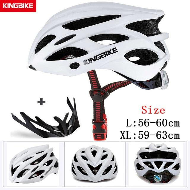 MTB Road Cycling Helmets Ultralight Bikewest.com A-652-white l56-60CM
