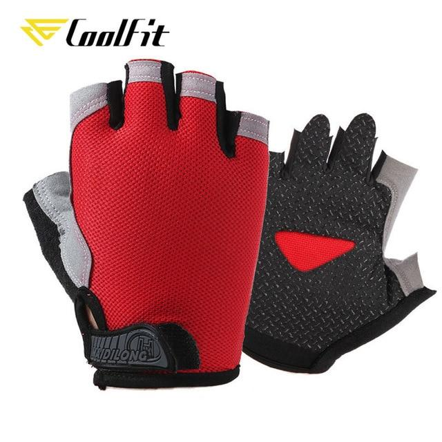 New Cycling Anti-slip Anti-sweat Men Women Half Finger Gloves Bikewest.com Type A--Red L
