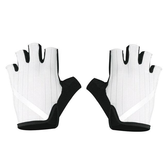 New Cycling Gloves Highly Reflective with Anti Slip Socks Bikewest.com Gloves White XL