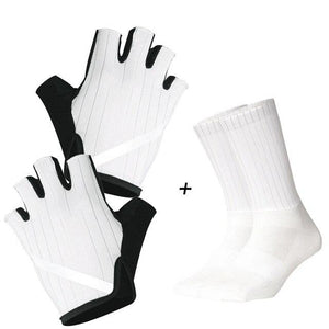 New Cycling Gloves Highly Reflective with Anti Slip Socks Bikewest.com Set White XL