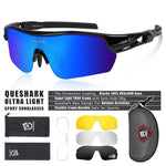 Load image into Gallery viewer, New Design Polarized Sport Sunglasses 4 HD Bikewest.com Black Blue