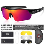 Load image into Gallery viewer, New Design Polarized Sport Sunglasses 4 HD Bikewest.com Black Red