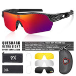 Load image into Gallery viewer, New Design Polarized Sport Sunglasses 4 HD Bikewest.com Carbon Style Red