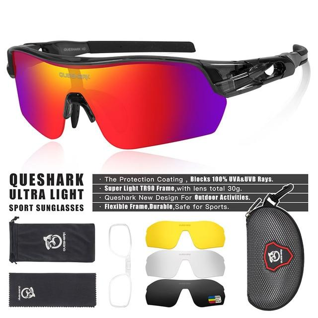 New Design Polarized Sport Sunglasses 4 HD Bikewest.com Clear Grey