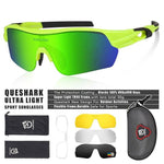 Load image into Gallery viewer, New Design Polarized Sport Sunglasses 4 HD Bikewest.com Fluorescent Green