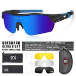 Load image into Gallery viewer, New Design Polarized Sport Sunglasses 4 HD Bikewest.com Matte Black Blue