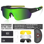 Load image into Gallery viewer, New Design Polarized Sport Sunglasses 4 HD Bikewest.com Matte Black Green