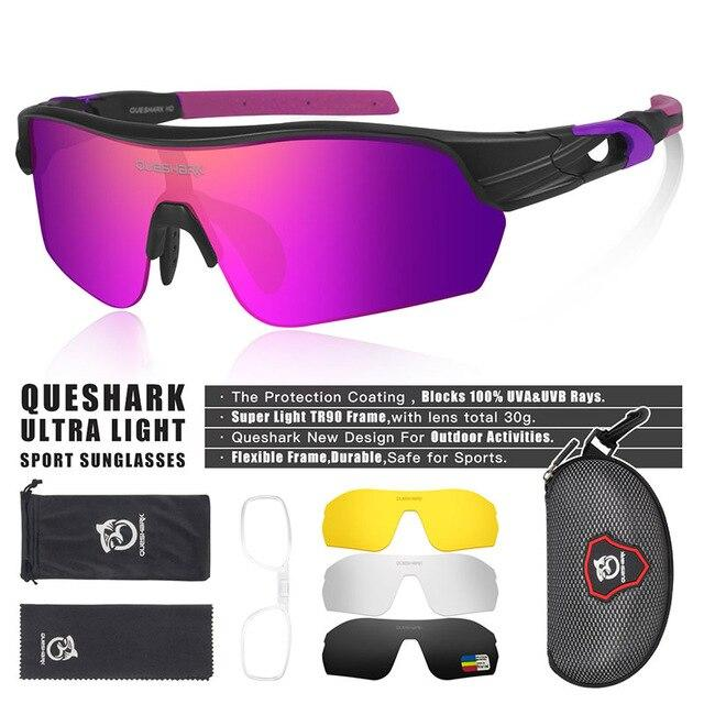 New Design Polarized Sport Sunglasses 4 HD Bikewest.com Matte Black Pink